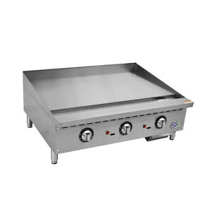 36 Commercial Countertop Gas Griddle With Thermostatic Controls