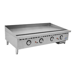 48 Commercial Countertop Gas Griddle With Thermostatic Controls