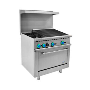 36 Commercial Gas Range 2 Burner With 24 Charbroiler And 1 Oven