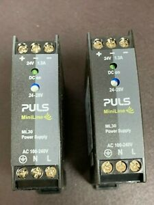 Lot Of 2 Puls Miniline Ml30 24v 1 3a Power Supply Ml30 241 Pre owned