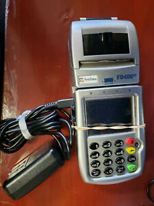 First Data Fd 400gt Wireless Terminal Credit Card Machine With Power Cord