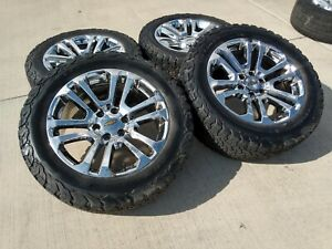 20 Chevy Gmc Tahoe 1500 Replica Oem Chrome Wheels Rims Tire 2017 2018 2019 4741