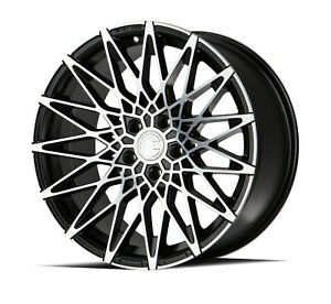 18x9 5x108 Aodhan Ls001 Black Machine Made For Ford Volvo Jaguar