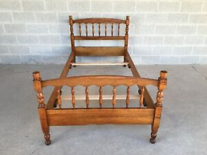 L Stickley Cherry Valley Spindle Style Twin Bed