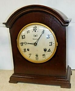 Antique 8 Day Waterbury Westminster Chime Clock No 903 Mantel Working As Is