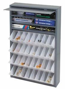 Metal 32 Tilt out Bins Storage Cabinet Compartment Nuts Fasteners Screws Bolts