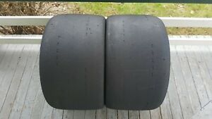 2 Hoosier A7 Racing Slick Tires 345 30 19 Used 75 Life Remaining