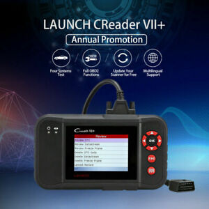 Launch X431 Creader Vii Pro Obd2 Eobd Diagnostic Scanner Tool Abs Airbag Srs At