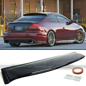 Fit 03 07 Honda Accord 2dr Abs Plastic Black Rear Roof Spoiler Window Visor Wing