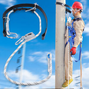 Fall Protection Adjustable Full Body Safety Harness Pole Aerial Work Anti fail