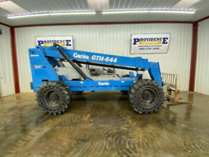 Genie Gth 644 Telescopic Forklift With Solid Rubber Tires 4x4