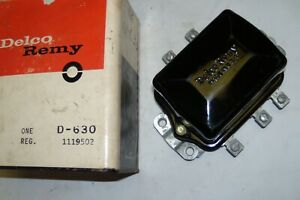 1962 Chevy Ii Nos Delco Voltage Regulator Gm 1119502 For 42a Or 52a Generator