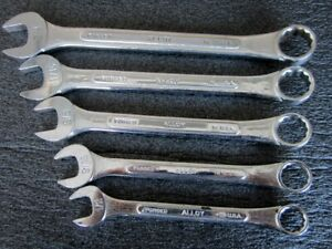 Sk Tools 5pc Sae Combination Wrench Set Superkrome Raised Panel Made In Usa