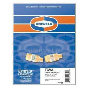 Uniweld Tcva Torch Check Valve Set