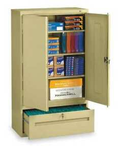 Tennsco Dwr6618sd 36 W 1 Drawer Lateral File Drawer Cabinet Sand