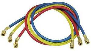 Yellow Jacket 21985 Manifold Hose Set 60 In red yellow blue