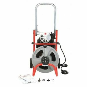 Ridgid 27013 Drain Cleaning Machine 1 3 Hp 1 2 X 75 Ft Solid Core Cable