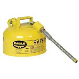 Eagle U226sy 2 1 2 Gal Yellow Galvanized Steel Type Ii Safety Can For Diesel