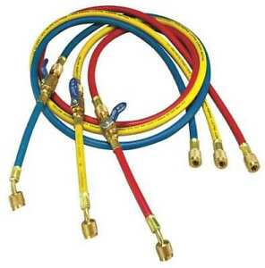 Yellow Jacket 25986 Manifold Hose Set 72 In red yellow blue
