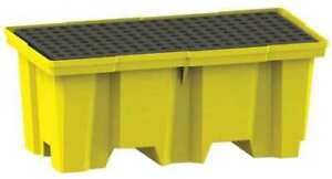 Enpac 5222 ye d Drum Spill Containment Pallet 66gal yllw
