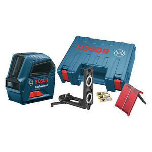 Bosch Gll 55 Cross Line Laser red Beam 50 Ft Range