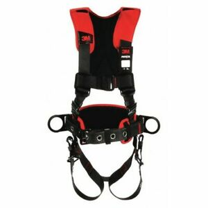3m Protecta 1161207 Full Body Harness Vest Style Xl Polyester Black