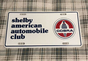 Vintage Shelby American Automobile Club License Plate Topper Ford Cobra 2