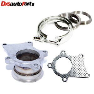 Turbo Charger Flange Conversion Adapter T3 t4 5 bolt To 2 5 V band gasket clamp