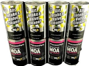 Bg Air Intake Valve Cleaner Advanced Formula Moa Oil Supplement 8 Cans Total