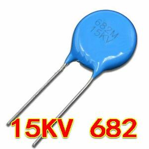 New 15kv 682 15000v 0 0068 f 6 8nf 6800pf High Voltage Ceramic Capacitor