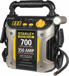 Battery Jump Starter Portable 120 Psi Air Compressor Car Charger Booster Box