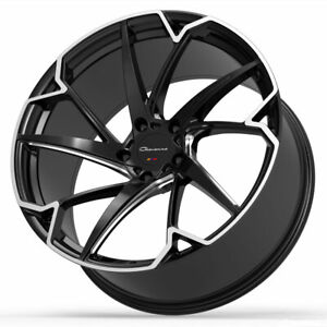 22 Giovanna Pistola Black 22x9 22x10 5 Concave Wheels Rims Fits Dodge Charger