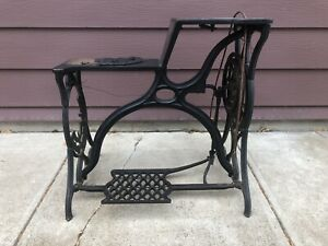 Antique Singer Stand Table Leather Patcher Sewing Machine Industrial Damaged
