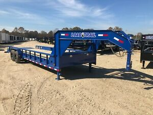 83 X 26 Gooseneck Pipe 2 7000 Lb Axles max Ramps load Trail brand New