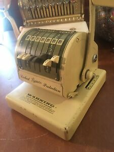 Vintage Paymaster Series X 550 Check Writer Presents Well
