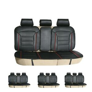 Car Seat Covers Futuristic Leather Seat Cushions Rear Universal Fit
