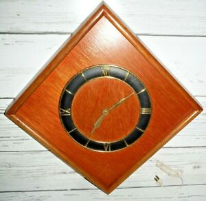 Vintage Danish Modern Wood Teac Wood Wall Clock Gilbert F