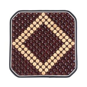 1x Cool Wooden Beaded Car Seat Chair Cover Office Chair Massage Cushion Us