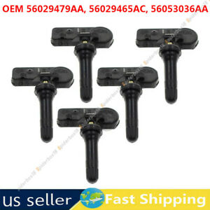5x Tire Pressure Monitoring Sensors For Jeep Compass Liberty Commander Chrysler