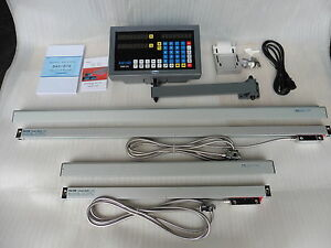 Digital Read Out System Kit For Milling Machine 2 axis fit For 9 x42 49 Table