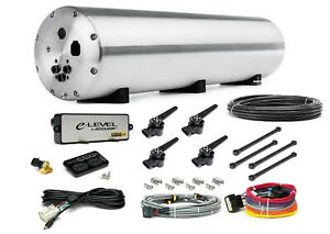 Accuair Aa Endo Vt45 Raw 5 Gal Aluminum Air Tank W 4 Corner Valves