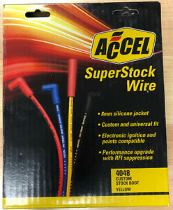 Accel Superstock 4000 Series Spark Plug Wires 8mm 4048