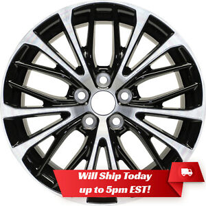 New 18 Machined Black Alloy Wheel Rim For 2018 2019 Toyota Camry 75221 Se