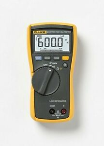 Fluke 113 True rms Utility Multimeter W Display Backlight 9v Alk Battery 600v