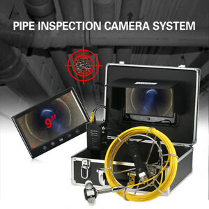 9 20m Pipe Inspection Camera Drain Sewer Pipeline Industrial Endoscope Monitor