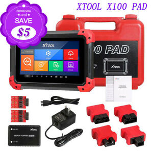 New Xtool X 100 Pad Tablet Obd2 Scan Programmer Odometer Correction Eeprom Usa