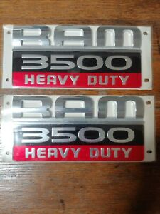 Dodge Ram 3500 Heavy Duty Fender Emblem X2