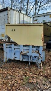 Twin Hydraulic Chute Fed Trash Compactor