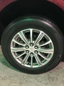 Cadillac Xt5 Bright Machined Faced light Argent Accents Wheels Oem 18 Rims Srx