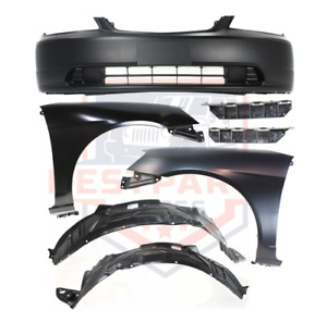 Front Bumper Cover Kit W Fenders For 2001 2003 Honda Civic Coupe Sedan